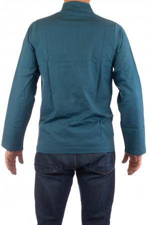 Camasa cu nod chinezesc - Chinese knot shirt - Turcoaz [4]