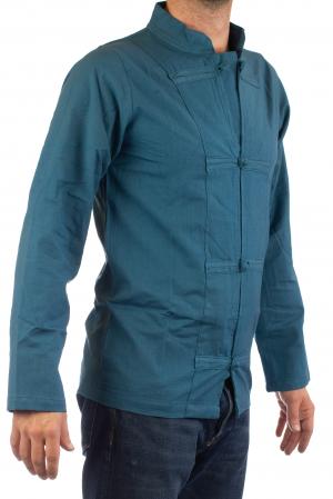 Camasa cu nod chinezesc - Chinese knot shirt - Turcoaz [0]
