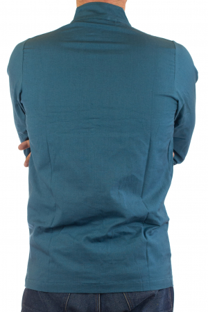 Camasa cu nod chinezesc - Chinese knot shirt - Turcoaz [5]
