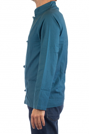 Camasa cu nod chinezesc - Chinese knot shirt - Turcoaz [3]