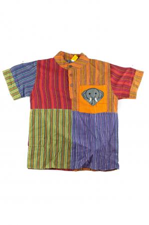 Camasa din bumbac de copii, Elefant marimea XL - Maneca scurta unicata M34 [0]