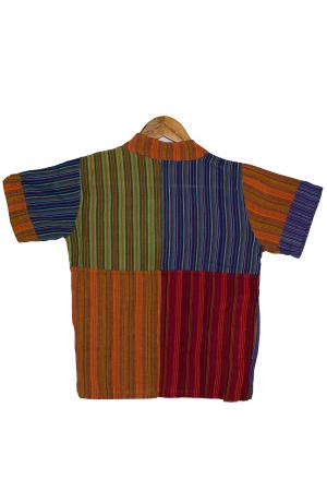 Camasa din bumbac de copii, Tigru marimea XL - maneca scurta unicata M22