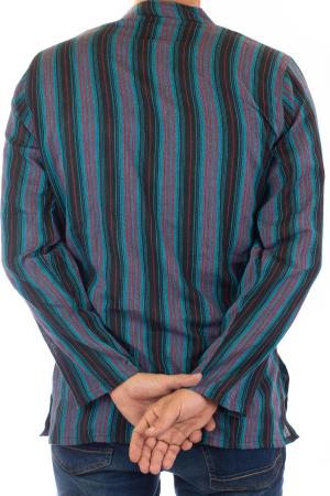 Camasa lejera de bumbac cu maneca lunga- Dungi - Multicolor [4]