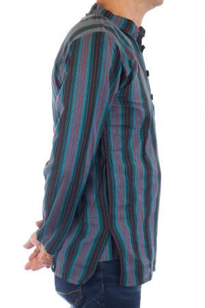 Camasa lejera de bumbac cu maneca lunga- Dungi - Multicolor [3]