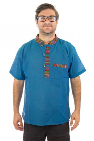 Camasa lejera de vara - Etno - Albastru [0]