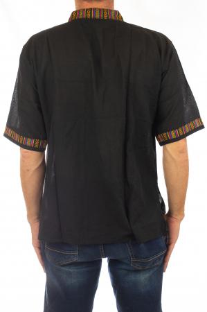 Camasa lejera de vara - Etno - Negru4