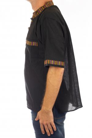 Camasa lejera de vara - Etno - Negru3