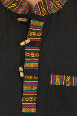 Camasa lejera de vara - Etno - Negru1