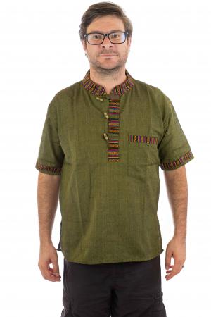Camasa lejera de vara - Etno - Verde0