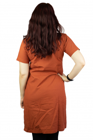 Camasa lunga portocalie2