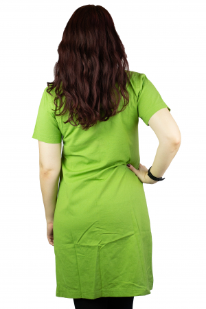 Camasa lunga asimetrica - Verde2