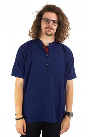 Camasa simpla de vara - Albastru inchis [1]