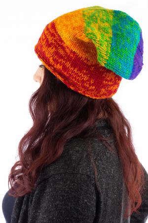 Caciula lunga din lana - Rainbow1