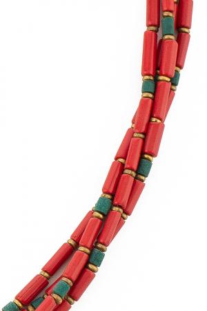 Colier Mala rosu V332