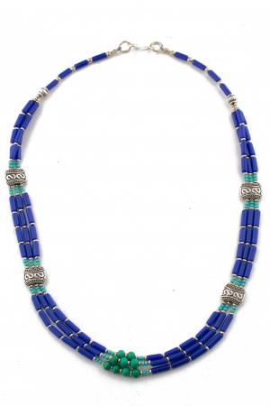 Colier 3 randuri blue V0070