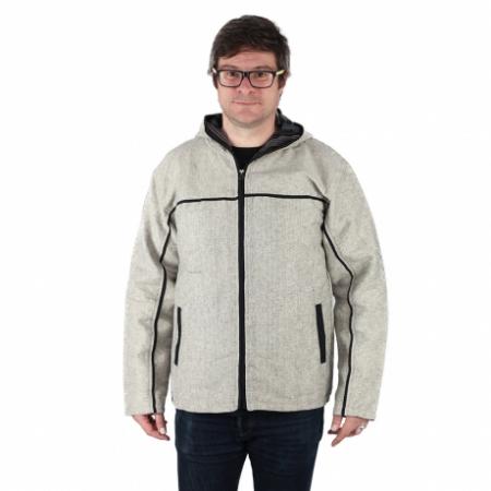 Jacheta barbateasca din bumbac - Gri0