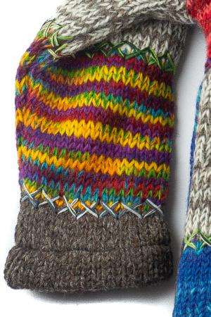 Jacheta pentru copii din lana - Rainbow Patch3