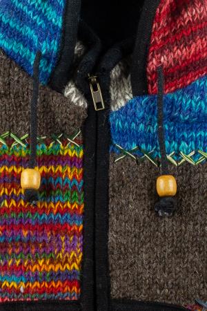 Jacheta pentru copii din lana - Rainbow Patch2