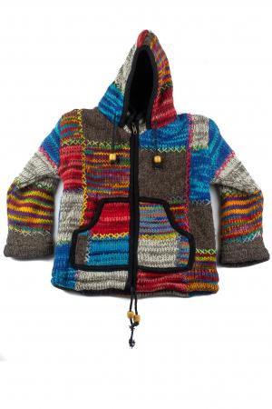 Jacheta pentru copii din lana - Rainbow Patch0