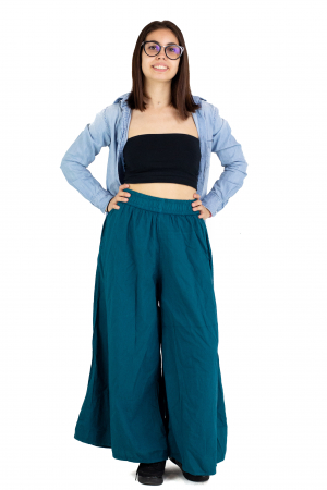 Culottes cu banda elastica - Turcoaz [1]