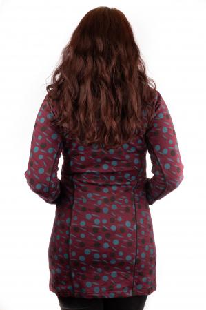 Jacheta femei rosie - Dots2