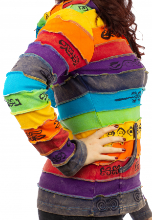 Hanorac casual femei – model curcubeu&print all over BG2023