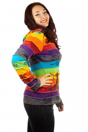 Hanorac casual femei – model curcubeu&print all over BG2022