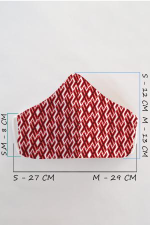 Masca bumbac cu filtru pentru adulti - Motiv 91