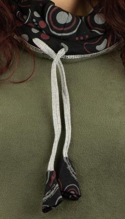 Tunica in colturi din polar si bumbac - Khaki1