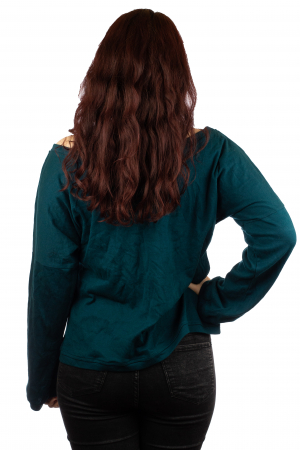 Bluza pe umeri - Teal2