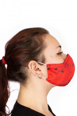 Masca bumbac cu filtru pentru adulti - Smiley Rosu3