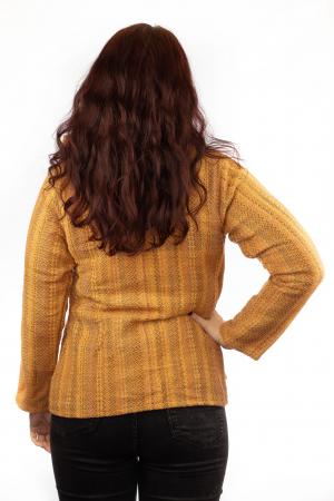 Jacheta femei scurta portocalie2