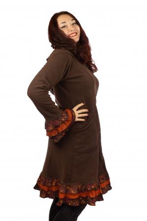 Jacheta femei - Marime M - Maro cu portocaliu1