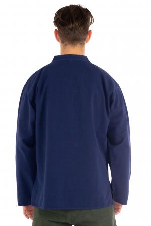 Camasa lejera cu maneca lunga - Albastru inchis [3]
