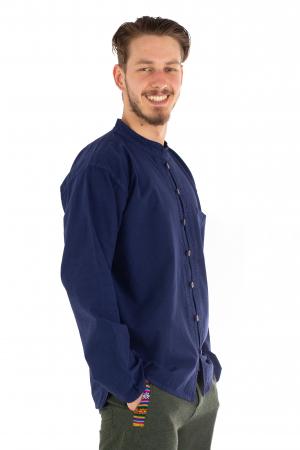 Camasa lejera cu maneca lunga - Albastru inchis [2]
