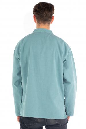 Camasa lejera cu maneca lunga - Albastru deschis [3]