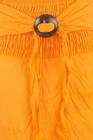 Fusta de vara cu catarama - Portocaliu1