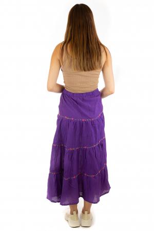 Fusta maxi bumbac 100% - violet5