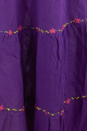 Fusta maxi bumbac 100% - violet1