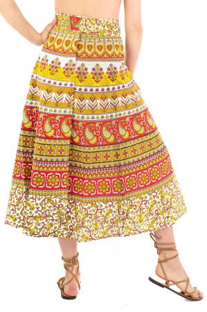 Fusta petrecuta cu cordon multicolora - Motive hinduse [2]