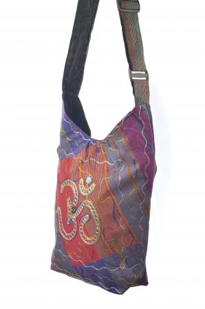 Geanta de umar multicolor - OM - Violet1