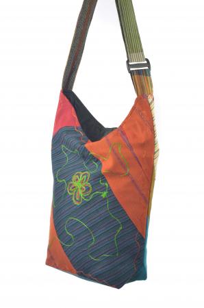 Geanta de umar multicolor - Floare - Orange2
