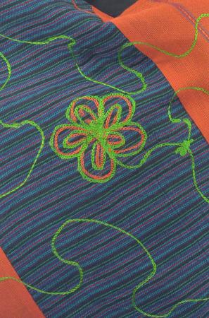 Geanta de umar multicolor - Floare - Orange1