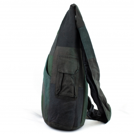 Geanta din bumbac - Verde inchis 21