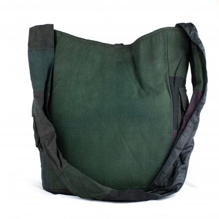 Geanta din bumbac - Verde inchis 22