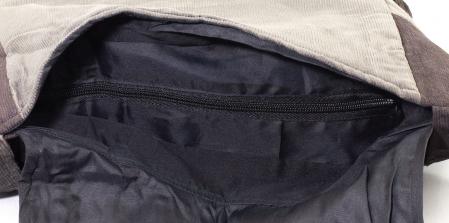 Geanta din bumbac - Mov cu negru3