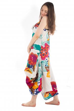 Rochie de plaja lejera - Alba - Floral HI1494A3