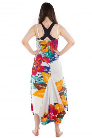 Rochie de plaja lejera - Alba - Floral HI1494A4