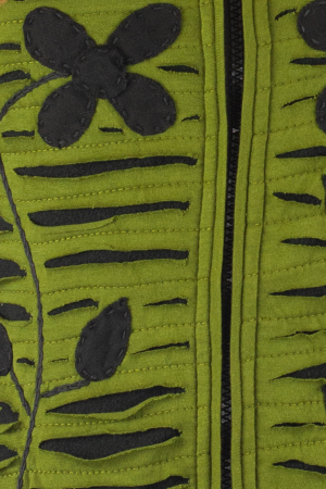 Hanorac Verde razor cut2