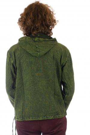 Hanorac cu print - Hidden Mandala - Verde [4]